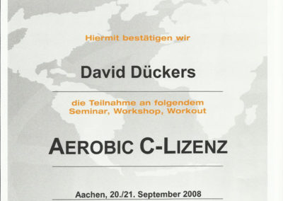 Aerobic Trainer C Lizenz IFAA
