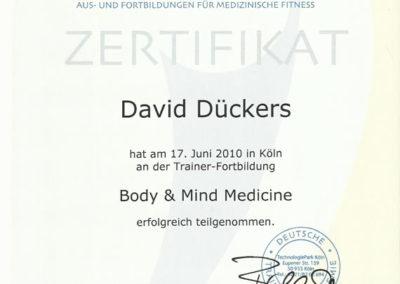 Body and Mind Zertifikat