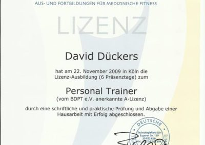 Personal Trainer DTA
